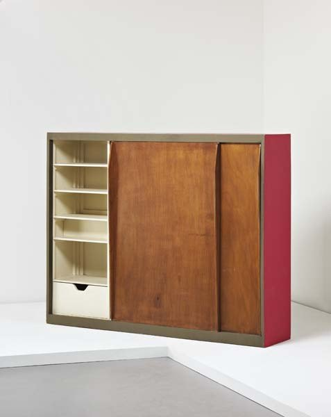 18: LE CORBUSIER , Wardrobe/room divider, from the Unit