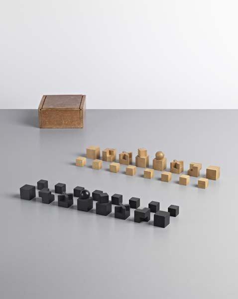 27: JOSEF HARTWIG , Rare chess set, model no. XVI, c. 1