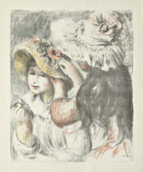 PIERRE-AUGUSTE RENOIR, Le chapeau épinglé: 2e planche,