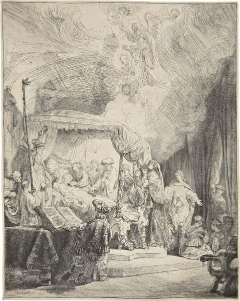 Rembrandt Harmensz van Rijn, The Death of the Virgin, 1