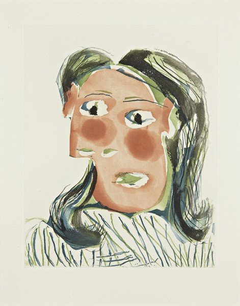 PABLO PICASSO, Tête de femme No. 6: Portrait de Dora Ma