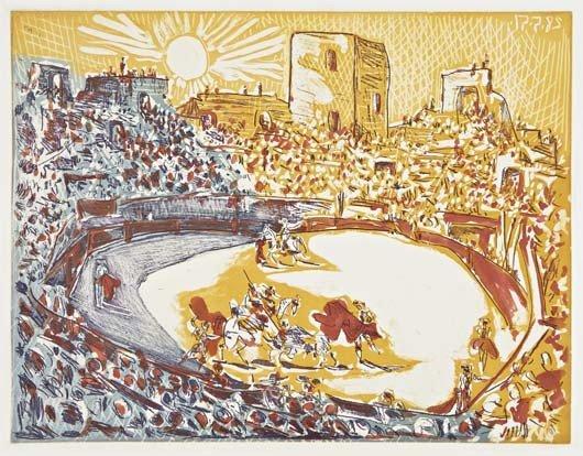 PABLO PICASSO, Corrida en Arles, 1951/55