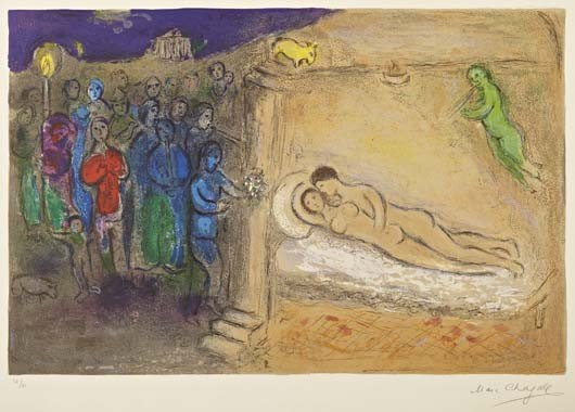 MARC CHAGALL, Daphnis and Chloé: Hyménée, 1961