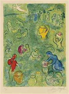 MARC CHAGALL, Daphnis and Chloe: Les vendanges, 1961