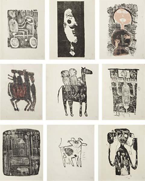 JEAN DUBUFFET, Matière et mémorie, ou les lithographs à