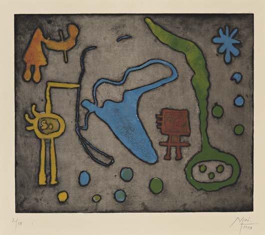 Joan Miro, Série II: one plate, 1952-53