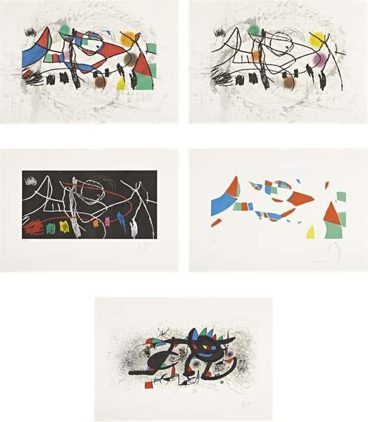 JOAN MIRO, Gravures pour une exposition portfolio, 1973