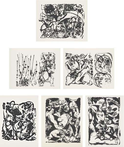 JACKSON POLLOCK, Untitled portfolio, 1951/1964