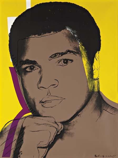 ANDY WARHOL, Muhammad Ali: one plate, 1978