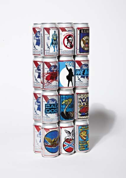 110: ROB PRUITT AND WALTER EARLY, Beer Cans (Sculpture