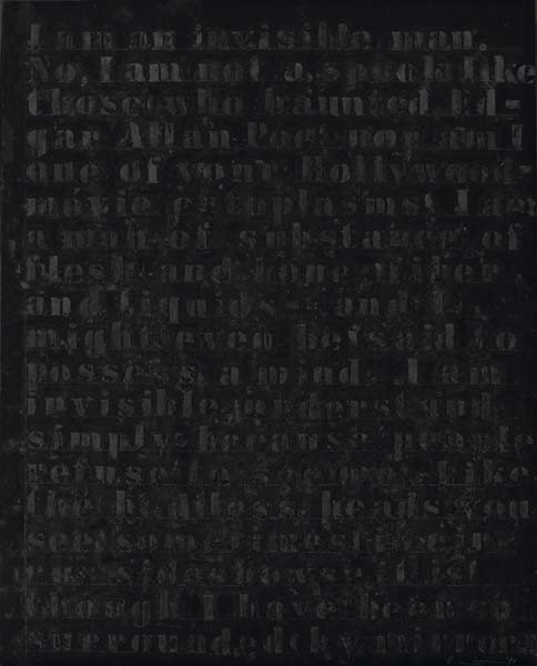 113: GLENN LIGON, Prologue Series #15, 1993