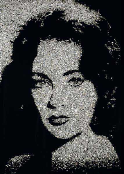 143: VIK MUNIZ, Elizabeth Taylor (Pictures of Diamonds)
