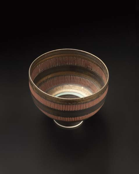 3: LUCIE RIE, Footed bowl, ca. 1978