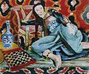 40: VIK MUNIZ, Odalisque with a Turkish Chair, after He