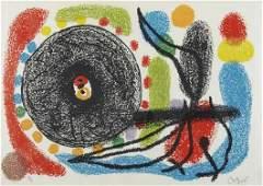 26 JOAN MIR Le Lzard aux Plumes dOr one plate 197