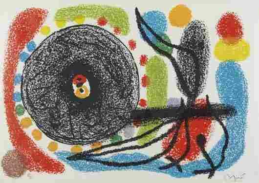 26: JOAN MIRÓ Le Lézard aux Plumes d'Or: one plate, 197