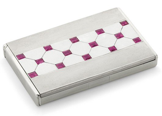 23: A ruby cigarette case, by Mauboussin