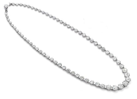 24: A diamond riviere necklace