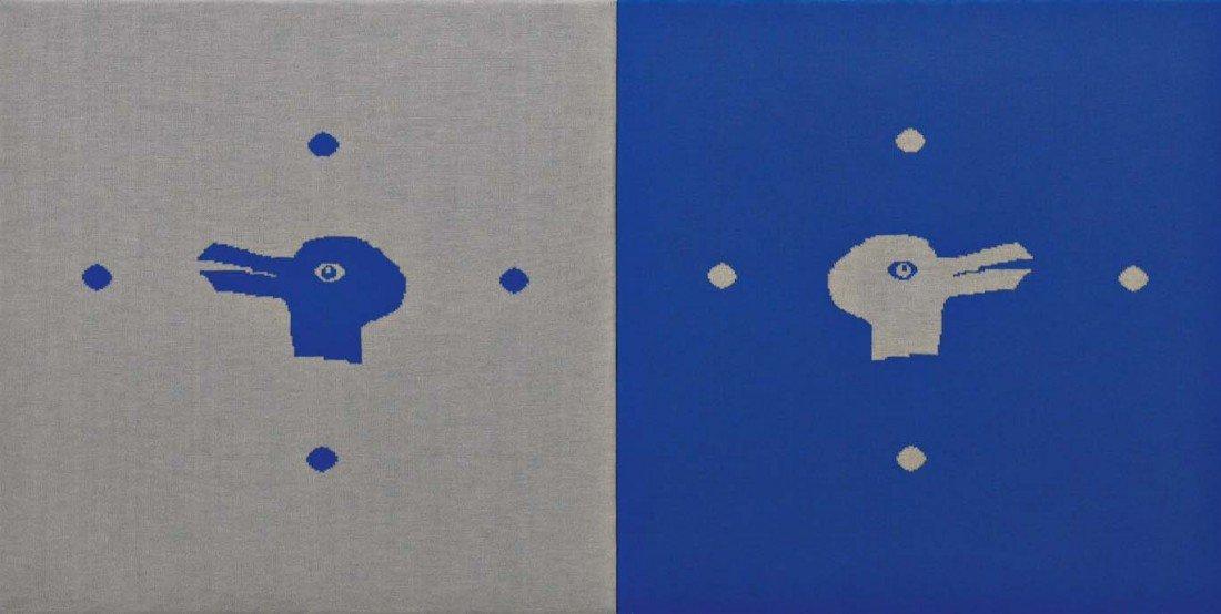 18: ROSEMARIE TROCKEL, Untitled (Vogelköpfe), 1989