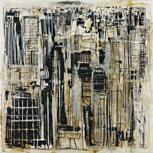 105: MARK BRADFORD, New York A.M, 2004