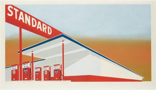 114: EDWARD RUSCHA, Standard Station, 1966