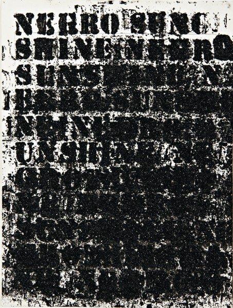 116: GLENN LIGON, Study for Negro Sunshine #54, 2010