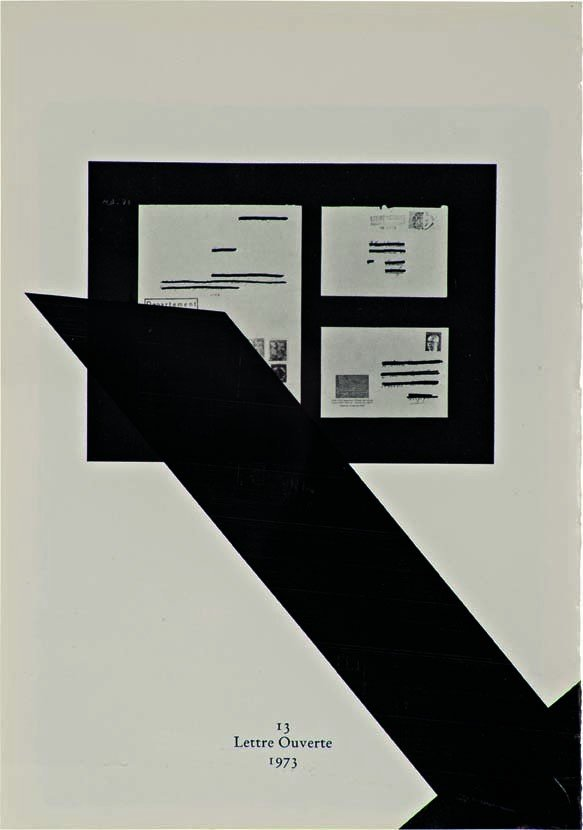 1: WADE GUYTON, Untitled (13 Lettre Ouverte 1973), 2007