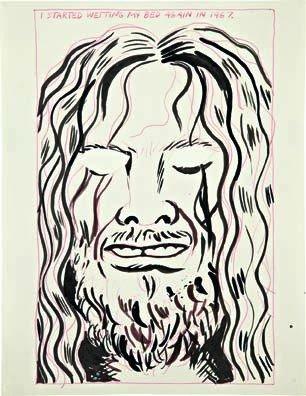 16: RAYMOND PETTIBON, Untitled (I started wetting...),