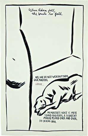 17: RAYMOND PETTIBON, Untitled (When adam fell...), 198