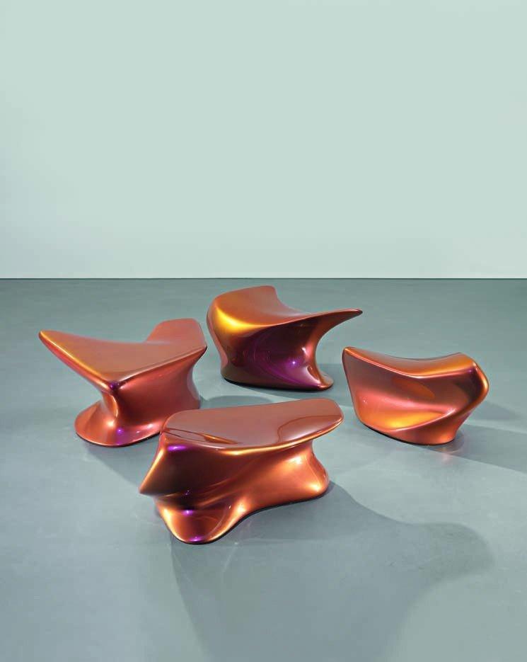 7: ZAHA HADID, Set of four 'Nekton' stools, c. 2006