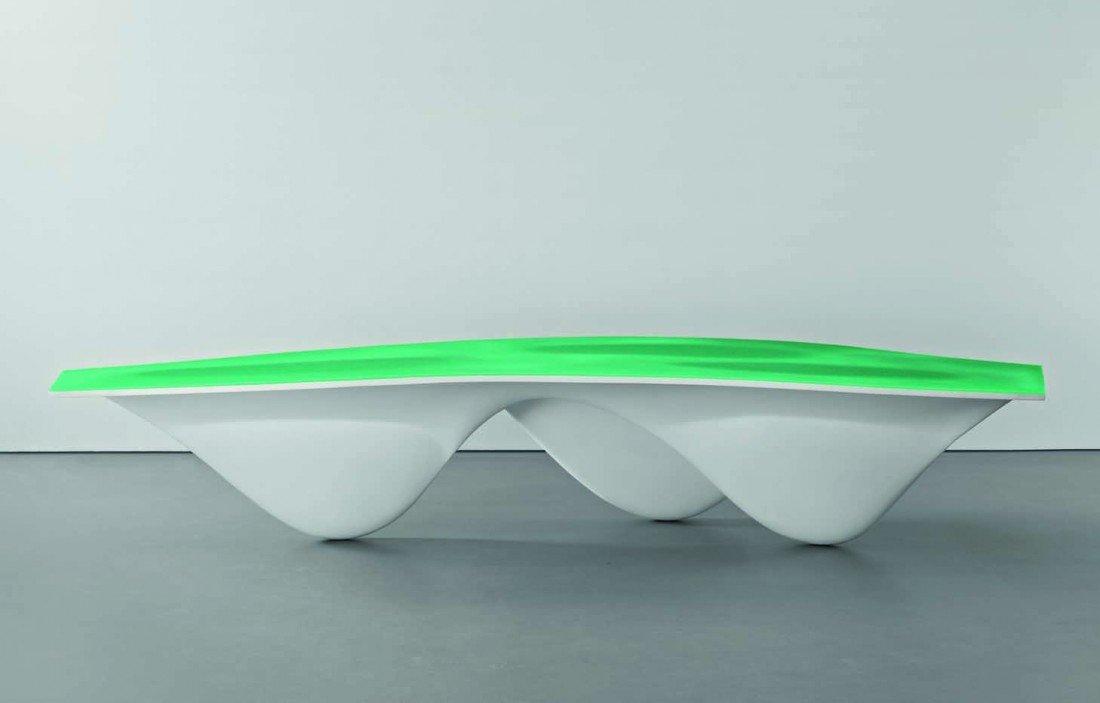 10: ZAHA HADID, White 'Aqua' table, c. 2006