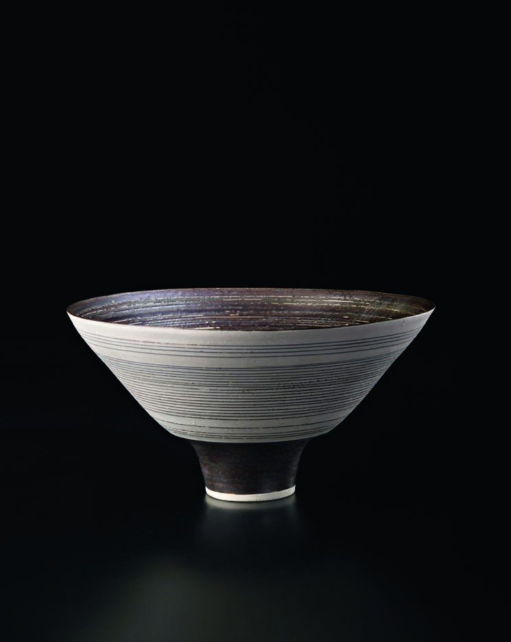 22: LUCIE RIE, Conical bowl, c. 1970