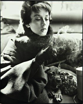 6: RICHARD AVEDON,  Dorian Leigh, Coat by Dior, Avenue