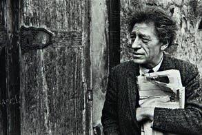 21: HENRI CARTIER-BRESSON,  Alberto Giacometti, circa 1