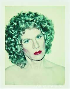 216: ANDY WARHOL, Self-portrait in Drag, 1980