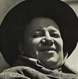 255: EDWARD WESTON, Diego Rivera, Mexico, 1924