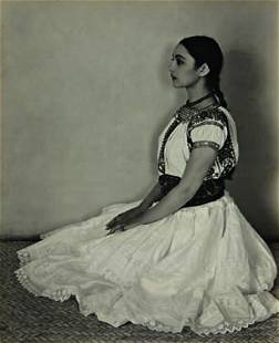 256: EDWARD WESTON, Cholula Costume, circa 1926