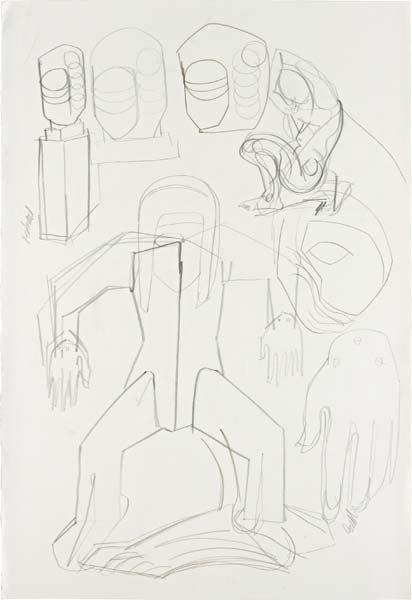 106: THOMAS HOUSEAGO, Study for Aluminium Monument, 200
