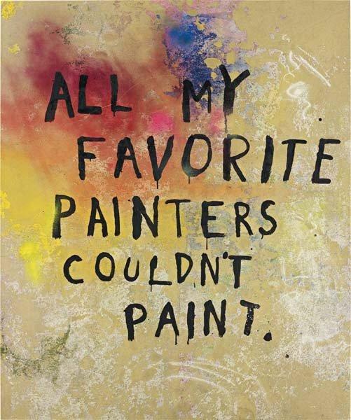 "108: FRIEDRICH KUNATH, Untitled ""All my favourite paint"