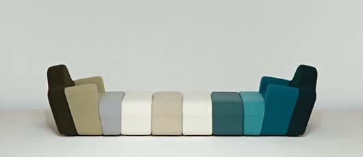 "6: PIERRE CHARPIN, Custom ""Slice"" modular armchair and"