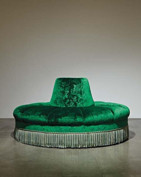 8: Napoleon III-style Borne settee, late 20th century