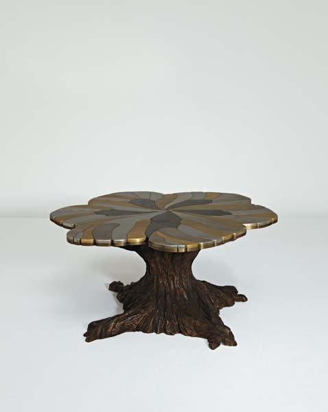 """16: FRANCESCA AMFITHEATROF, Unique """"Butterfly"""" table, 2"""