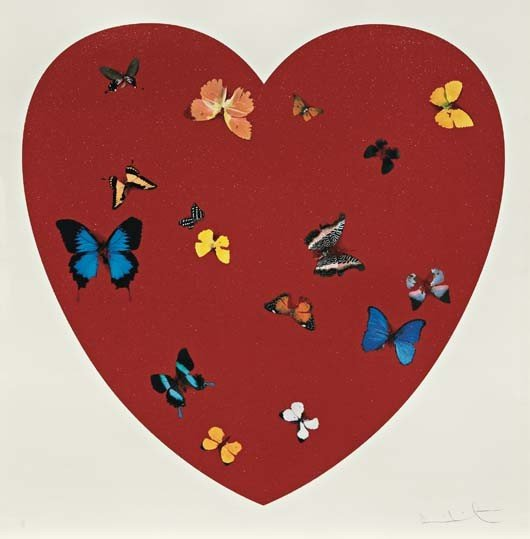 1: DAMIEN HIRST,Big Love, diamond dust,2010