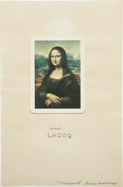 3: MARCEL DUCHAMP,L.H.O.O.Q. rasée (shaved),1965
