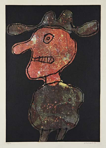 6: JEAN DUBUFFET,Personage au chapeau,1962
