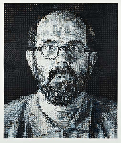 7: CHUCK CLOSE,Self-Portrait,1995