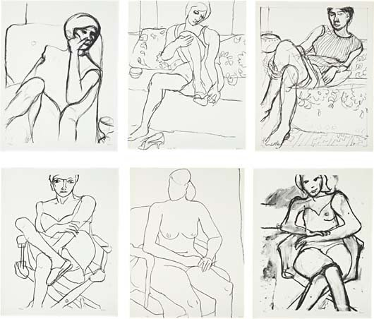 11: RICHARD DIEBENKORN,[Seated Woman Series],1965