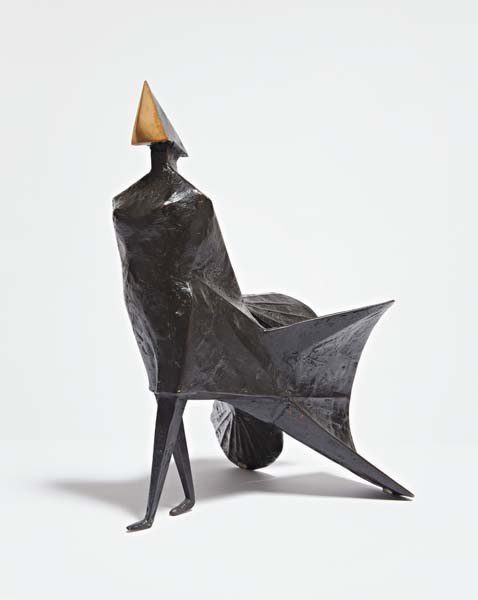 14: LYNN CHADWICK,Maquette IV Walking Woman,1984