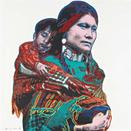 49: ANDY WARHOL,Mother and Child, from Cowboys and Indi
