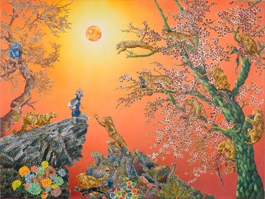 5: Raqib Shaw, An Ode to the Dissolving Silk of Dusk, 2